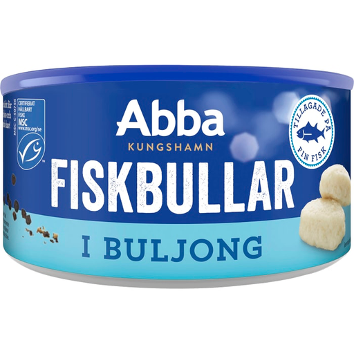 Abba Fiskbullar i buljong - Fish Dumplings in Broth 375g