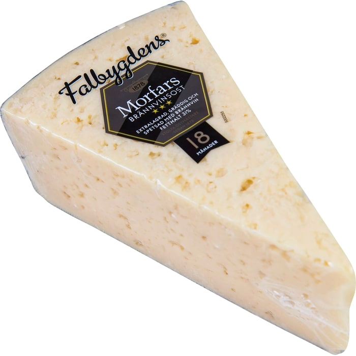"Falbygdens Morfars Brännvinsost 31% - Grand Dads Extra Strong ""Brandy"" Cheese 500g"