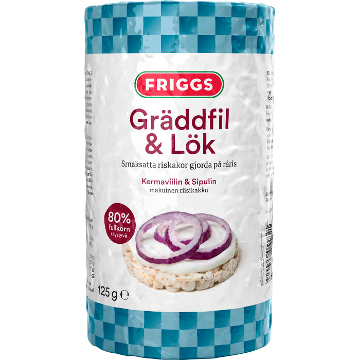 Friggs Riskakor med Gräddfil & Lök  - Rice Cakes with Sourcream & Onion 130g
