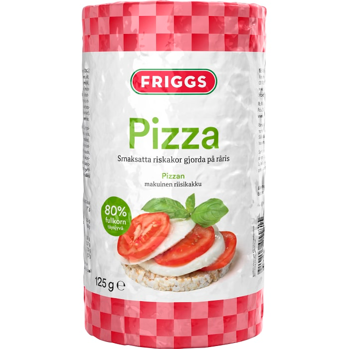 Friggs Riskakor med Pizzasmak  - Rice Cakes with pizza flavour 130g