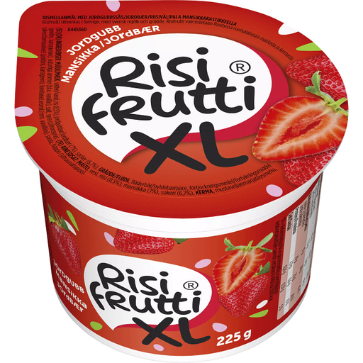 Risifrutti XL Jordgubb - Rice Porridge with Strawberry Jam 225g