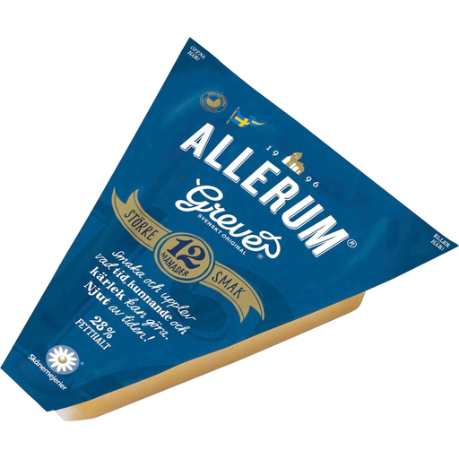 Allerums Grevé vällagrad  28% - Stored for 12 months Cheese 700g