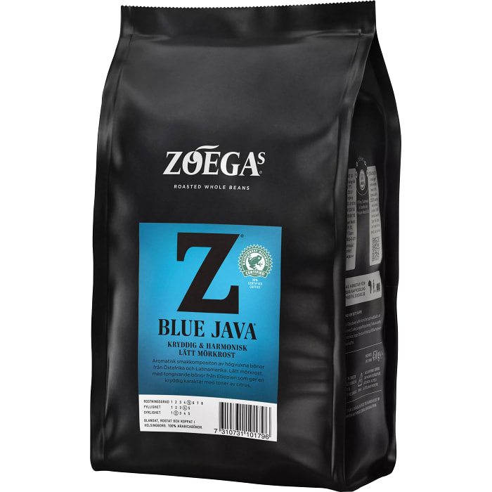 Zoegas Bönor Blue Java  - Spicy & Light Roasted Coffee Beans 450 g