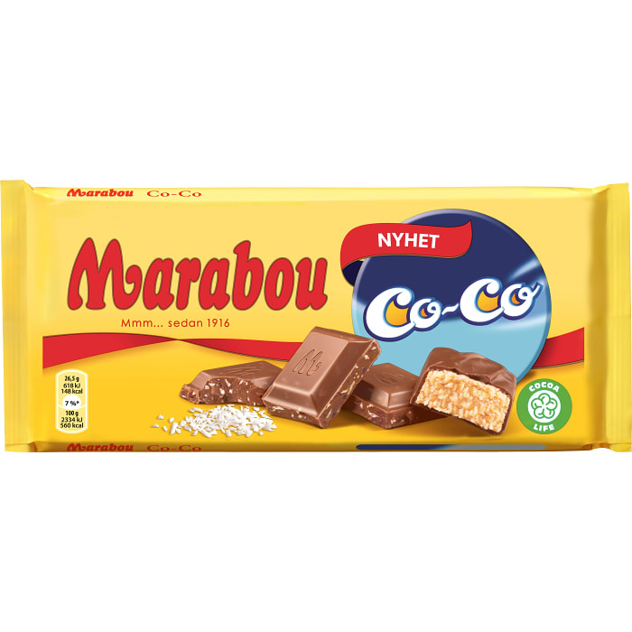 Marabou Co-Co - Milk Chocolate with cocos 185 g