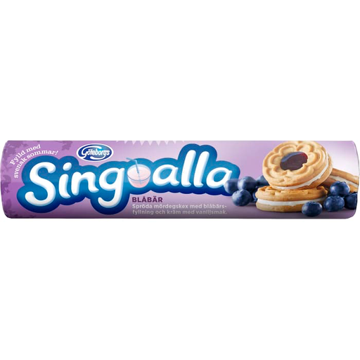 Göteborgs Singoalla Blåbär - Biscuits With Vanilla Blueberry Filling 190 g