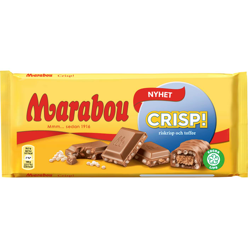 Marabou Crisp - Milk Chocolate with crisp 185g