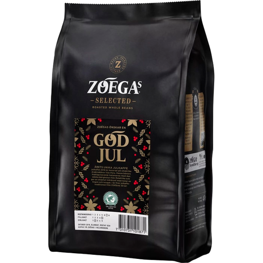 Zoegas Bönor God Jul -  Extra Dark Roasted Christmas Coffee Beans 450 g