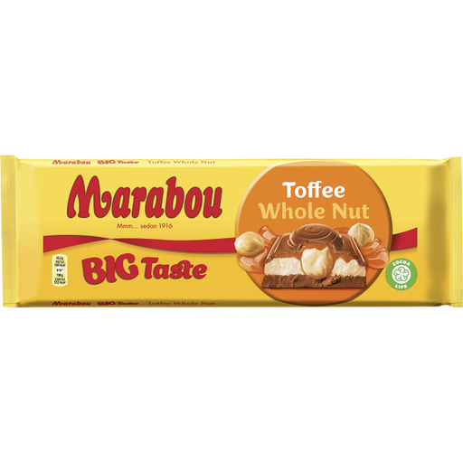Marabou Toffee Whole Nut  - Hazelnut Toffee Chocolate 300 g