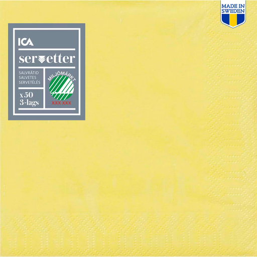 Dinner Napkin Yellow - 40cm, 50 p