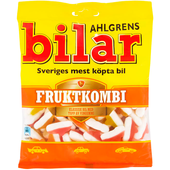 Ahlgrens Bilar Fruktkombi - Fruity Combination Marshmallows 140g