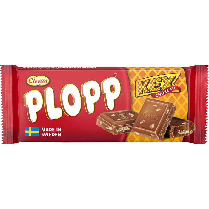 Cloetta Plopp Kexchoklad- Chocolate & Biscuit Bar 75g