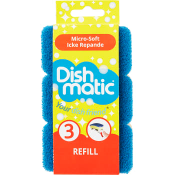 Dishmatic Refill Blue - 3 pieces