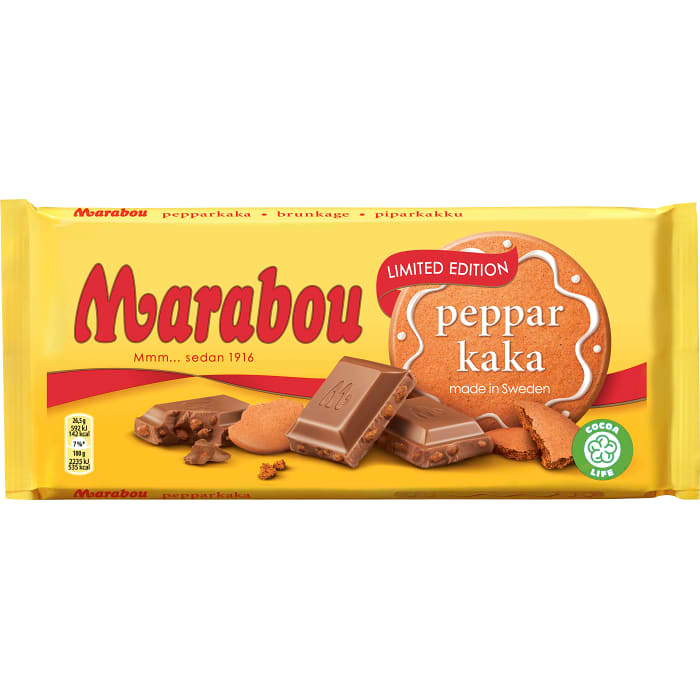 Marabou Pepparkaka - Milk Chocolate with Gingerbread 185g