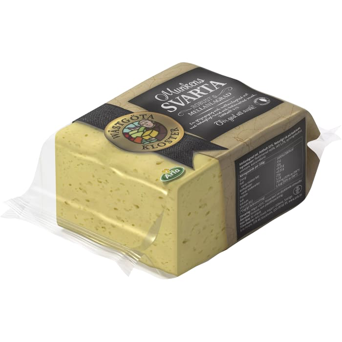 Wästgöta Kloster Munkens Svart 31% - Medium Strong Cheese approx. 800g