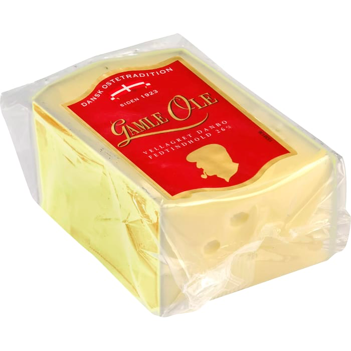 Dansk Ostetradition Gamle Ole 26% - Old Ole Danish Cheese appr. 500g