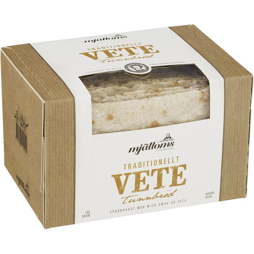 Mjälloms Tunnbröd Vete - Thin Crisp Bread Wheat 150g