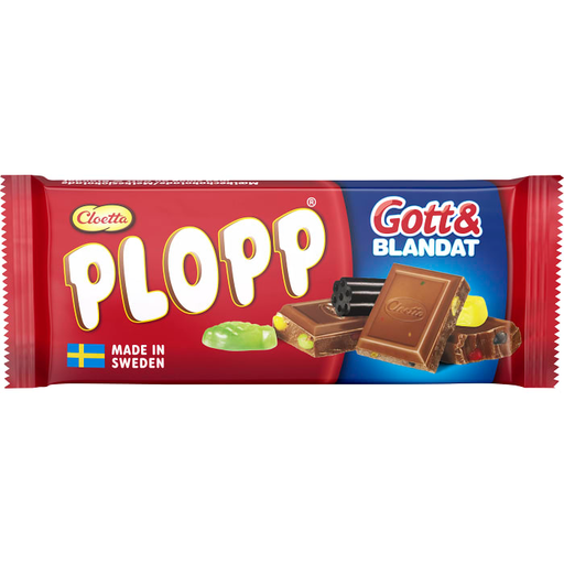 Cloetta Plopp Gott & Blandat - Chocolate & Candy Bar 75g