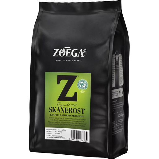 Zoegas  Bönor Skånerost - Dark Roasted Coffee Beans 450 g