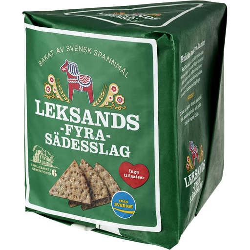 Leksands Fyra Sädesslag - Four kinds of grain, Crispbread 190 g