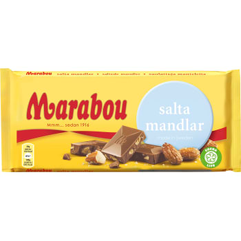 Marabou Salta Mandlar - Salty Almond Chocolate 200 g
