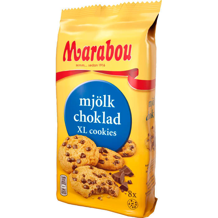 Marabou Mjölkchoklad XL Cookies - Milk-chocolate XL Cookies 184g
