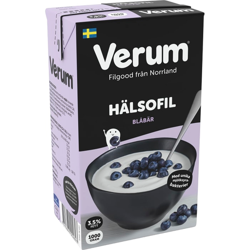 Verum Hälsofil Blåbär 3,5% - Blueberry Buttermilk 1 L