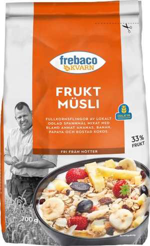 Frebaco Kvarn Fruktmüesli - Muesli with Fruit 700g