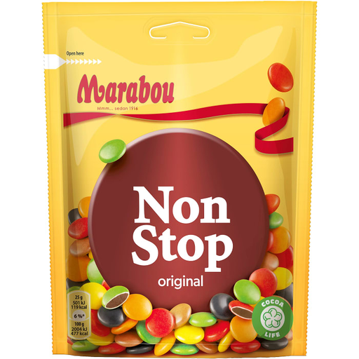 Marabou Non Stop Original - Milk Chocolate 225g