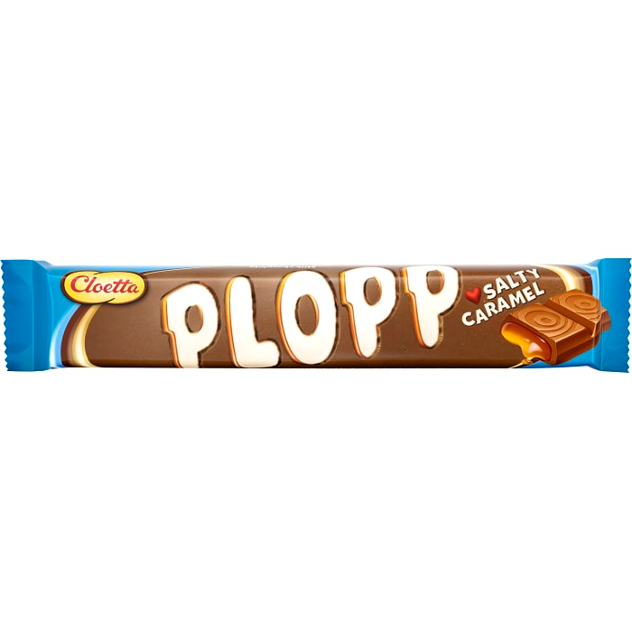 Cloetta Plopp Salty Caramel Chocolate Bar 50G