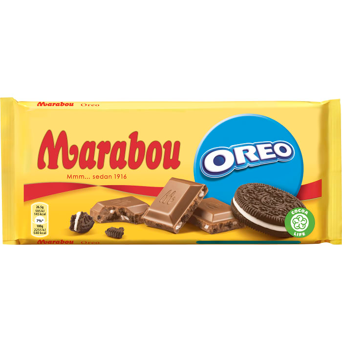 Marabou Oreo - Milk Chocolate with Oreo 185g