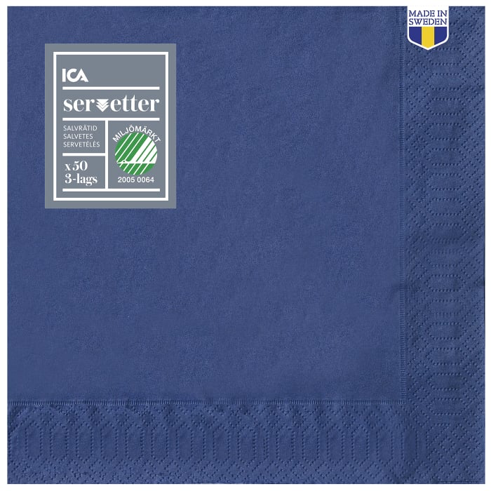 Dinner Napkin Blue - 40cm, 50 p