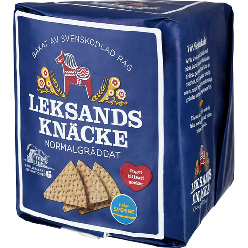 Leksands Knäcke Normalgräddat -  Medium brown Crispbread 200 g
