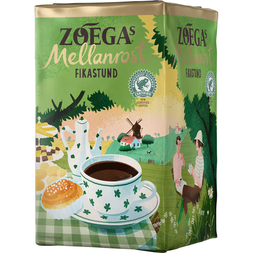 Zoegas Fikastund - Ground Medium Roasted Coffee 450 g