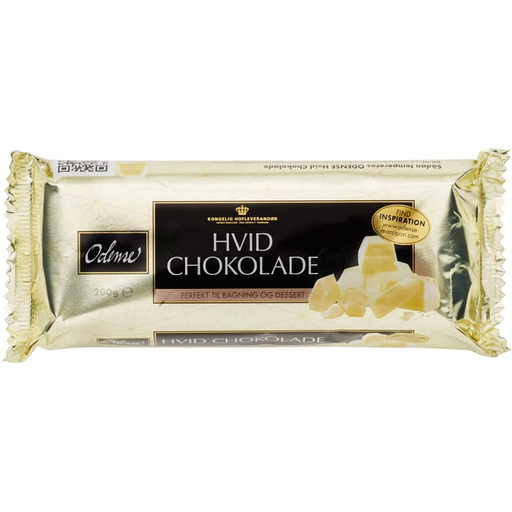 Odense Vit Blockchoklad - White Baking-Chocolate 200g