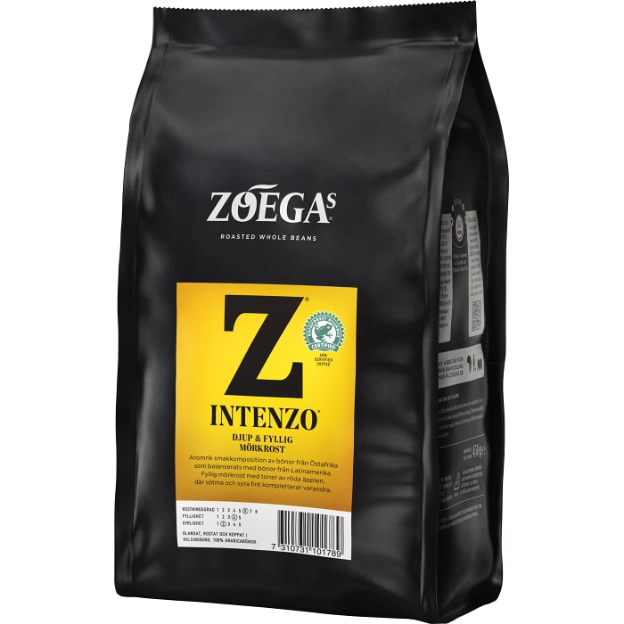 Zoegas  Bönor Intenzo - Dark & Full-flavoured Roasted Coffee Beans 450 g