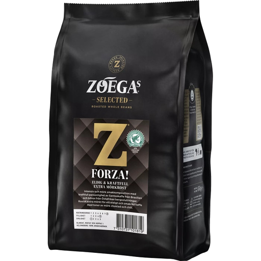 Zoegas  Bönor Forza -  Extra Dark Roasted Coffee Beans 450 g