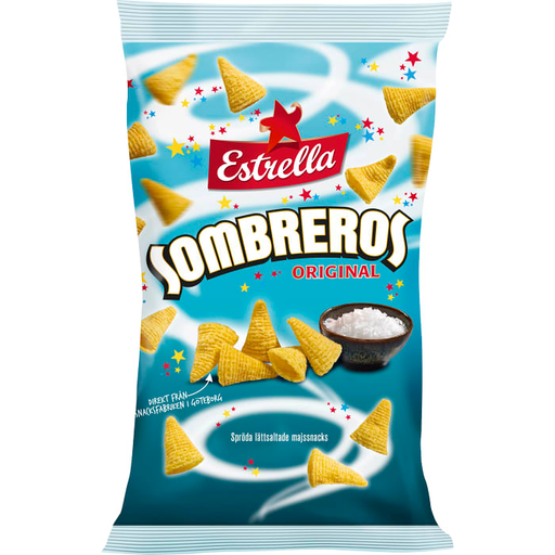 Estrella Sombreros Original - Cheese Corn Snacks 125g
