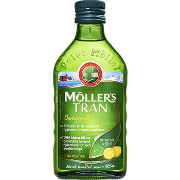 Möller´s Tran Omega-3 - Lemon 250ml