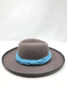 Z Hat (color of choice) + Blue Beaded Necklace Collection