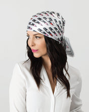 Load image into Gallery viewer, Grey Z Hat + Lipstick Scarf Collection
