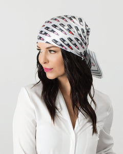Grey Z Hat + Lipstick Scarf Collection