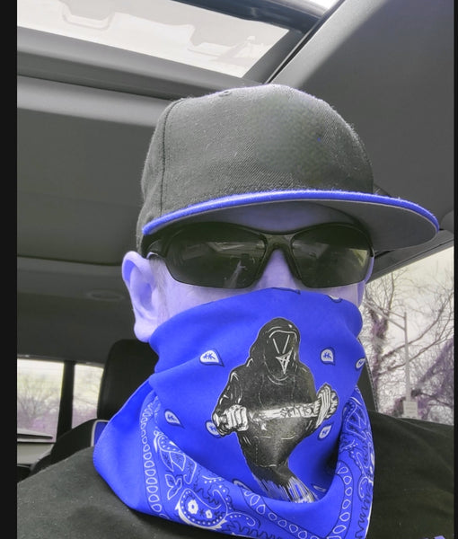 Smyrx Royal Blue Paisley Bandanna