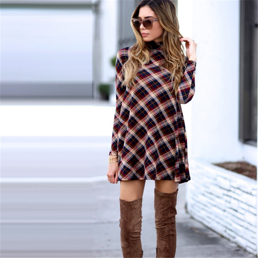 Flannel Plaid Dress