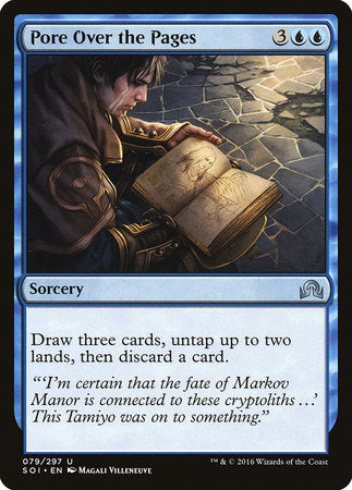 Pore Over the Pages [Shadows over Innistrad] | Matrix Collectibles