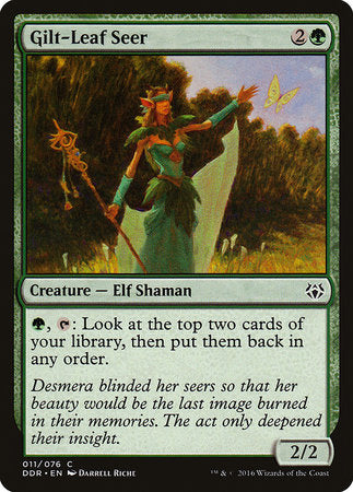 Gilt-Leaf Seer [Duel Decks: Nissa vs. Ob Nixilis] | Matrix Collectibles