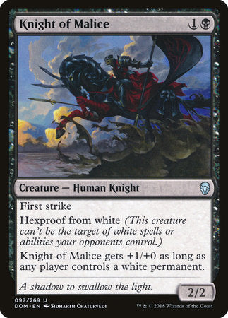 Knight of Malice [Dominaria] | Matrix Collectibles
