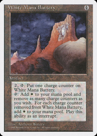 White Mana Battery [Fourth Edition] | Matrix Collectibles