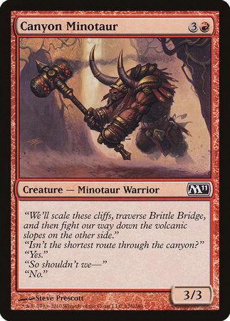Canyon Minotaur [Magic 2011] | Matrix Collectibles