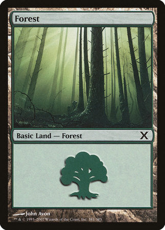 Forest (381) [Tenth Edition] | Matrix Collectibles