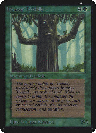 Ironroot Treefolk [Limited Edition Alpha] | Matrix Collectibles